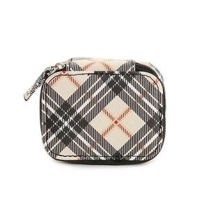 Kelly & Katie plaid travel pill case NWT